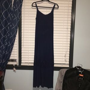 Torrid Navy Blue Lace Insert Maxi Dress 👗 00 12